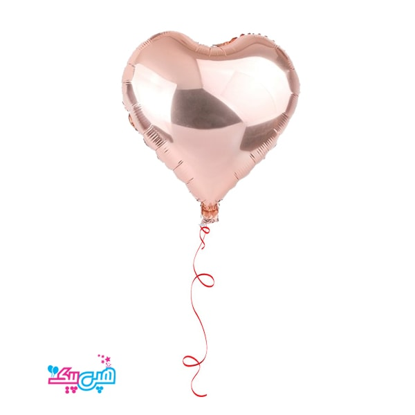 rose gold helium heart foil balloon-