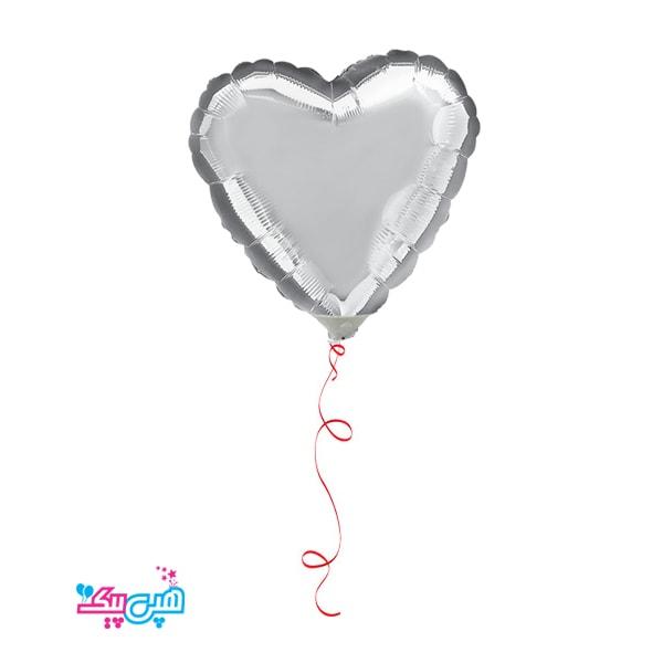 silver helium heart foil balloon-