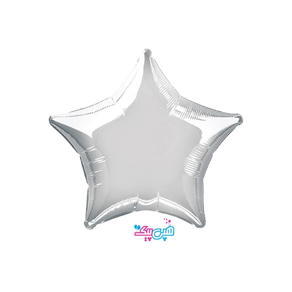 star silver foil balloon-