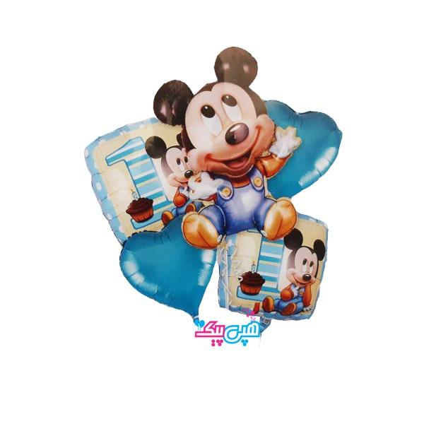 ۵ pieces miki mouse balloon-
