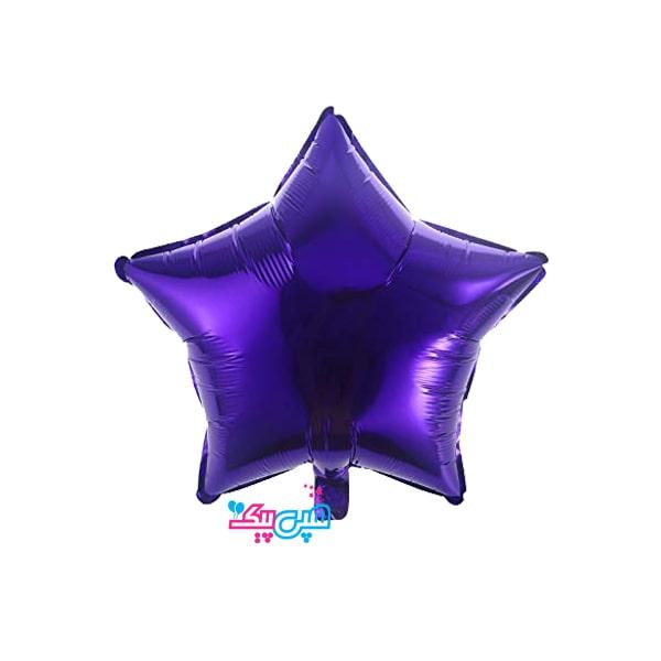Purple star balloon-