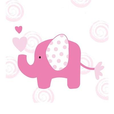 جشنی زیبا با تم تولد فیل دخترانه