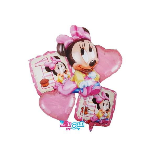 mini mouse 5 pieces balloon-