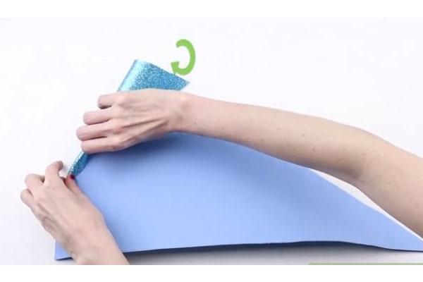 لوله کردن کاغذ فومی-