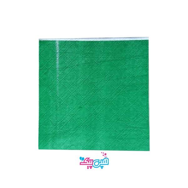 green napkin-