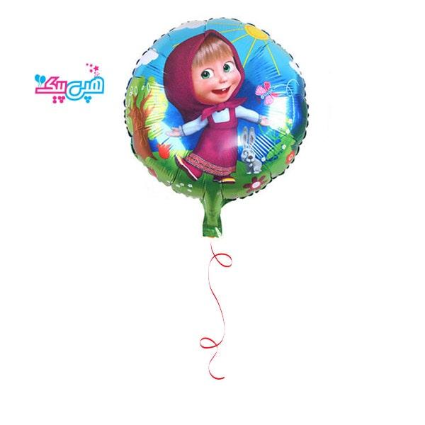 helium misha round foil balloon-