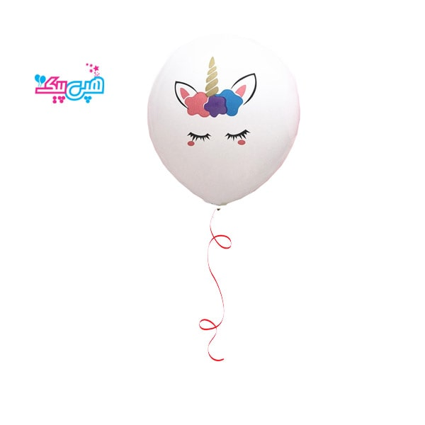 helium unicorn white latex balloon-