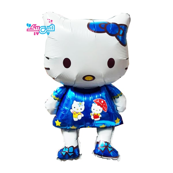 kitty blue medium foil balloon-