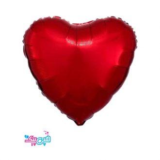 بادکنک قلب کروم قرمز