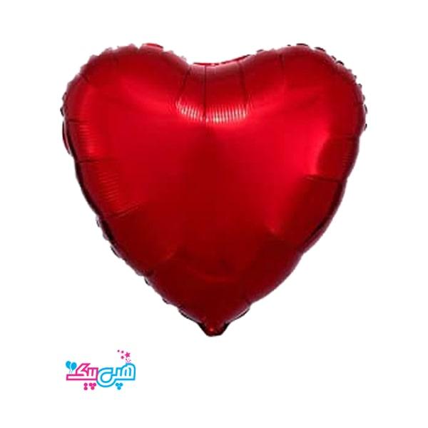 chroma red heart foil balloon-