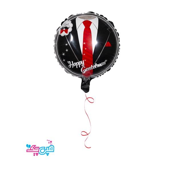 foil tie helium theme-