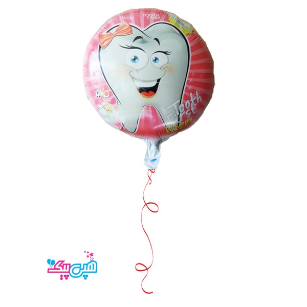 girl tooth helium round foil balloon-