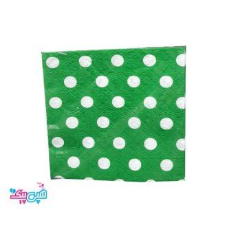 دستمال خالدار سبز