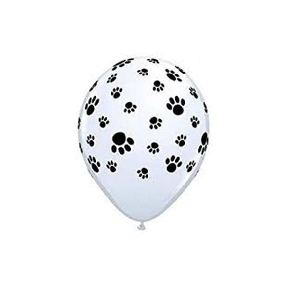 Dog footprints latex balloon-