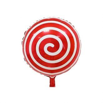 بادکنک آبنباتی مارپیچ قرمز