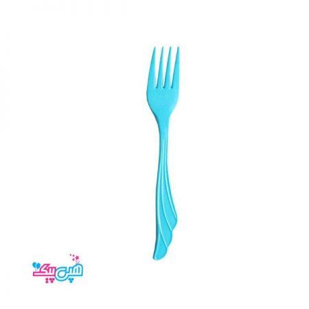 چنگال آبی پلاستیکی