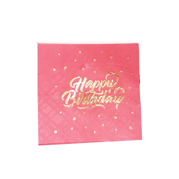 napkin pink happybrithday-