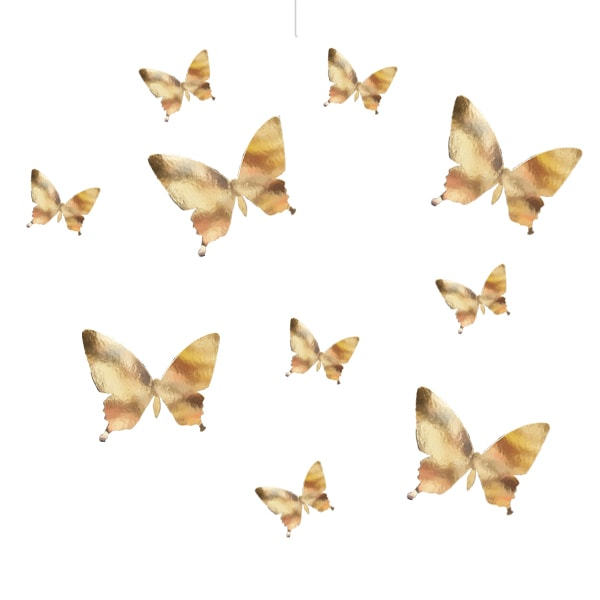 Adhesive butterfly gold-