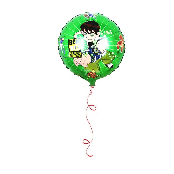 Round foil balloon with 10 helium