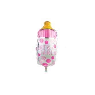 بادکنک شیشه شیر دختر کوچک