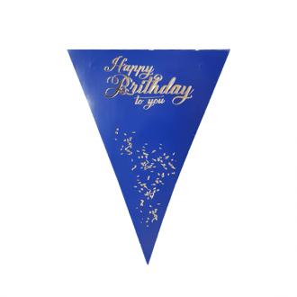 ریسه مثلثی آبی طلاکوب