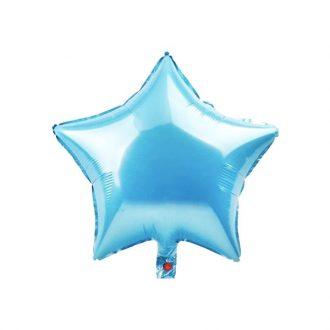 بادکنک فویلی ستاره آبی روشن