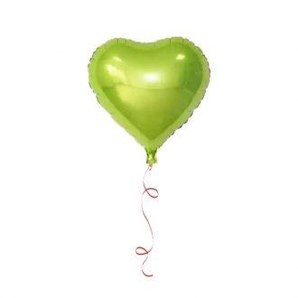 بادکنک هلیومی قلب سبز روشن
