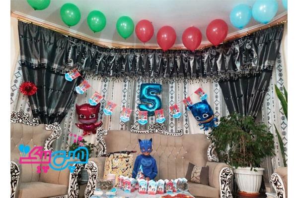اجرای تم تولد پی جی ماسک در خانه-